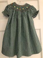 toddler girl smocked dresses Very Beautiful Pumpkin Smock Dress 4