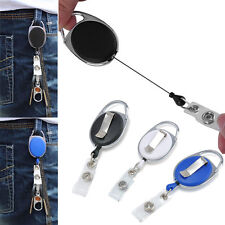 New Retractable Recoil ID Badge Lanyard Belt Clip Reel Name Tag Key Card Holder