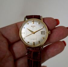 Lord ELGIN solid 14k Gold Automatic men's Watch With Date