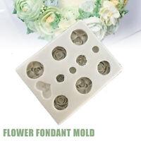 RoseSilikon Kuchen Fondant Sugarcraft Mould Icing Cutter MoldDekorationswerkzeug