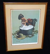 "1970s N.W. Framed Print 59/475 ""Bubba's Bubbles"" by Jim Daly (Cha)"