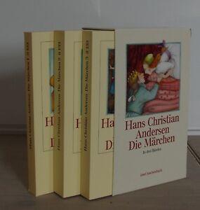 """Hans Christian Andersen """"Die Märchen in drei Bänden"""" 3 Bände TB im Schuber"""