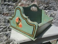Vintage style hand made cutlery tray/Storage Box. Hand decorated with gold leaf.