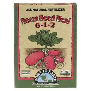 Down to Earth - Neem Seed Meal (6-1-2) 5 LB - All Natural Organic Fertilizers