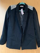 Striking 'Awear' Blazer With Studded Shoulder pads Size 10 UK