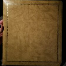 Vintage Leathermark Holson Co Leather Bound Gold Trim Photo Album