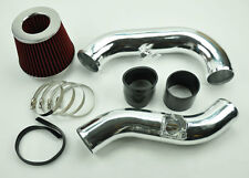 Red Turbo Cold Air Induction Intake Kit w/ Filter Beaded FITS Subaru Impreza WRX