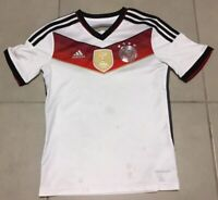 YOUTH Germany Adidas Climacool Sz M 10-12 white soccer World Champions Jersey
