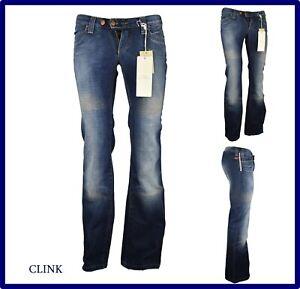jeans pantaloni da donna a zampa vita bassa bootcut palazzo scampanati 28 29 30