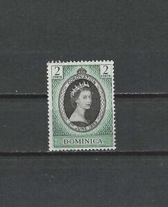 DOMINICA , 1953 , CORONATION , ELIZABETH II , 2c STAMP ,  PERF ,  VLH
