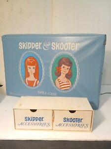 Skipper & Skooter Doll Case 1965 Blue