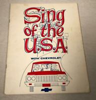 "1964 CHEVROLET ADVERTISING SONGBOOK ""SING OF THE USA"" CORVETTE CHEVELLE CORVAIR"