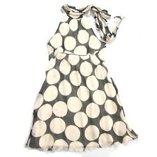 Size 12 - DIANE von FURSTENBERG Women's 100% Silk Polka Dot Cocktail Haute Dress