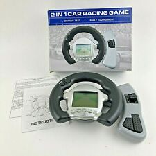 Car Racing Game LCD Handheld 2008 2 in 1 Sunscope Tested Working CIB Game 0008