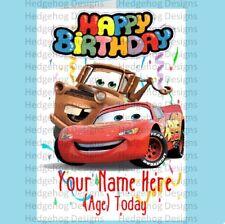 Personalised Cars Birthday Card/ Lightning McQueen