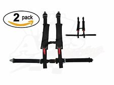 """Pair of Polaris RZR 4 Point Harness- E4 Certified- 2"""" Padding - Auto-Style Latch"""