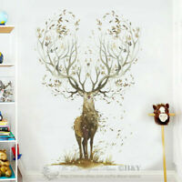Large Elk Deer Wall Stickers Removable Vinyl Decal Kids Nursery Decor Art Mural