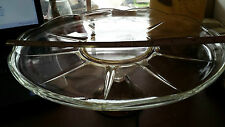 "Duchin Sterling Silver Base Crystal Top 11.25"" Cake Plate"