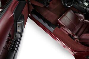 1990-1996 Corvette C4 Black Door Sill Plate Protectors 602839976