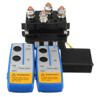 12V 500A HD Contactor Winch Control Solenoid Relay+Twin Wireless Remote+Cover