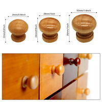 10PCS Natural Wooden Cabinet Drawer Cupboard Wardrobe Door Knob Pull Handle