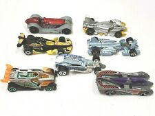Hot Wheels Lot of 7 Race Cars 1994-2008 Surf Crate Jet Threat 3.0 Buzz Off