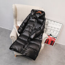 Women Duck Down Jacket Long Hooded Coat Puffer Parka Thicken Quilted Winter
