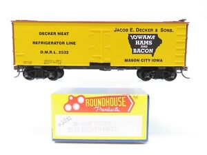 HO Scale Roundhouse 3193 DMRL Decker Meat 36' Reefer #2532