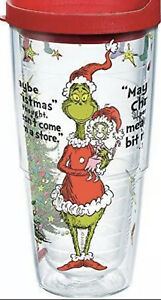Tervis Dr. Seuss - Grinch Christmas Quote Tumbler with Wrap and Red Lid 24oz