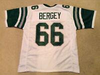 UNSIGNED CUSTOM Sewn Stitched Bill Bergey White Jersey - M, L, XL, 2XL