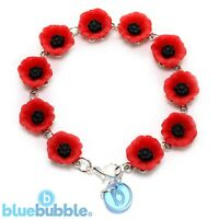 Bluebubble POPPY DAYS Flower Bracelet Vintage Boho Festival Chic Mum Mothers Day