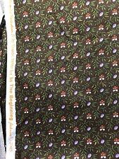 Cotton Fabric, 5 Yards, The Blended Collection IV, 2005, Brown, Green, Purple