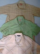 3X MEN'S SHORT SLEEVE SHIRTS. SIZE M/L NEXT, LEE COOPER, BURTON. CASUAL SUMMER