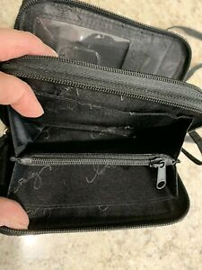 Vera Bradley crossbody wallet- Black Quilted