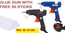 More details for glue gun hot melt electric trigger diy adhesive crafts 50 free glue sticks uk