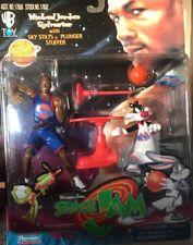 Vintage NIB 1996 SPACE JAM MICHAEL JORDAN+ Sylvester 2 Figure SET NIP