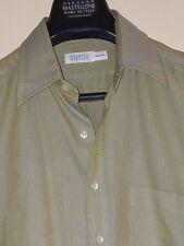 Barney's NY Iridescent Yellow/Gray Mini-Check Casual L/S Shirt Sz. L * Italy *