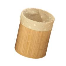 Folding Waste Paper Basket Trash Can Dustbin Rubbish Bin Bedroom Home Flower