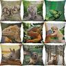 Cotton Linen Printing Animal dog cat deer Rabbit Pillows case Home Decor Cover