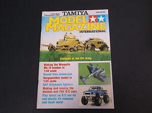 VINTAGE FALL / AUTUMN 1985 TAMIYA MODEL INTERNATIONAL MAGAZINE *VG-COND*