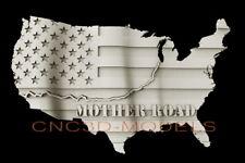 3d Stl Model For Cnc Router Artcam Aspire Usa Flag America Map Route D510