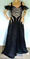 New NWT Temperley London Savannah Embellished Long Maxi Gown Dress UK 12 / US 8