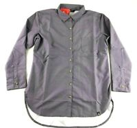 The North Face Women's Front Pocket Purple Long Sleeve Button Shirt Size Large