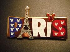 PINS DISNEY DISNEYLAND PARIS : PARIS + TOUR EIFFEL DRAPEAU FRANCE