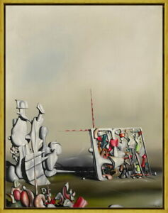 Framed Yves Tanguy There Giclee Canvas Print Paintings Poster Reproduction