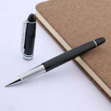 Writing metal black gift new Porcelain Silver Trim Rollerball Pen