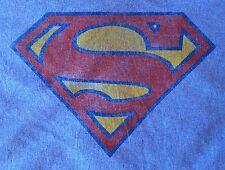 Superman Logo T-Shirt - Men's Size MEDIUM - Light Blue - DC Comics - Distressed