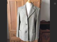 Louis FERAUD gray wool cashmere jacket size 8