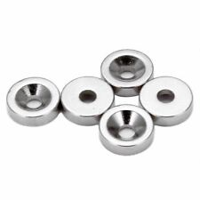 5pcs Neodymium Round Disc Magnets Dia 10mm x 3mm with 3mm Sink Hole N35