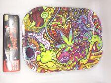 """7"""" X 5"""" Metal Rolling Tray & FREE Pack Smoking King Size W/ Filter & Blunt Magic"""